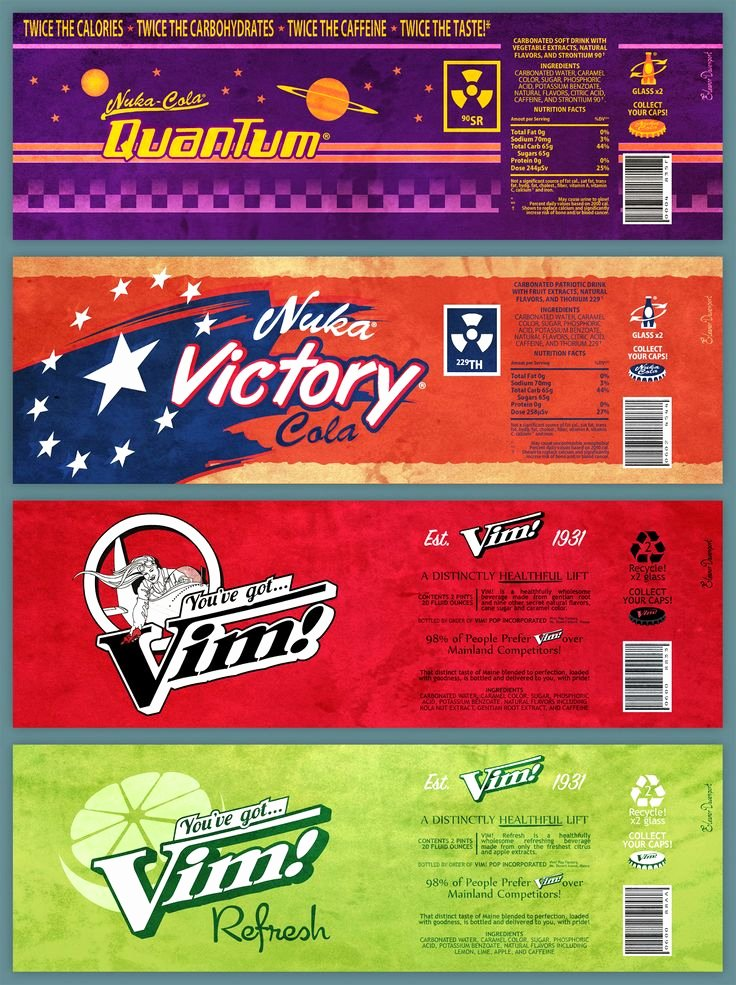 Nuka Cola Quantum Label Template Inspirational 167 Best Fallout Series Images On Pinterest