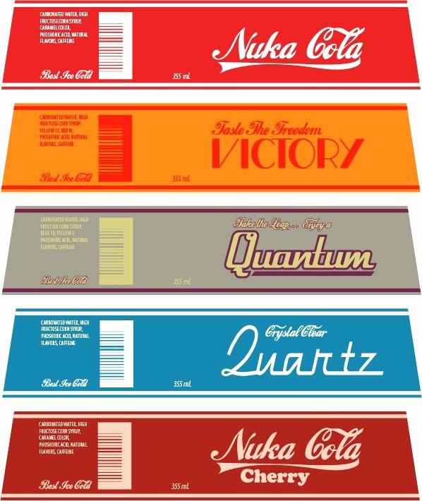 Nuka Cola Quantum Label Template Luxury My Homemade Nuka Cola Collection Imgur