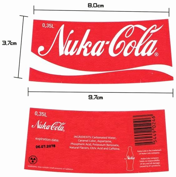 Nuka Cola Quantum Label Template New thebrownfaminaz Nuka Cola Bottle Caps Template