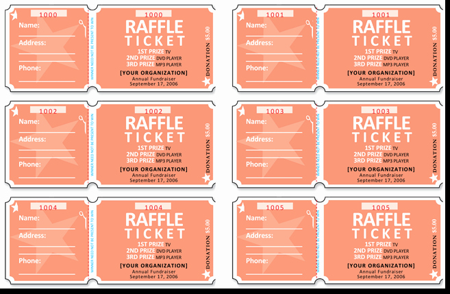 Numbered Raffle Ticket Template Best Of 20 Free Raffle Ticket Templates with Automate Ticket