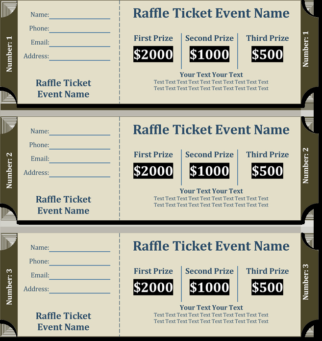 Numbered Raffle Ticket Template Elegant 20 Free Raffle Ticket Templates with Automate Ticket