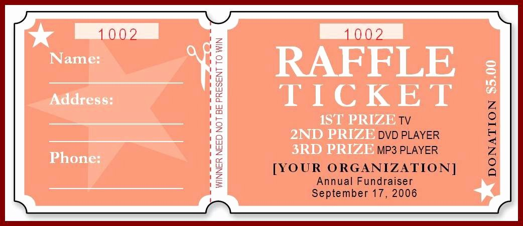 Numbered Raffle Ticket Template Elegant Free Raffle Ticket Template