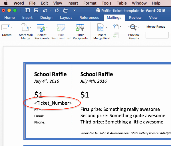 Numbered Raffle Ticket Template Lovely the Secret to Creating Numbered Raffle Tickets In Word