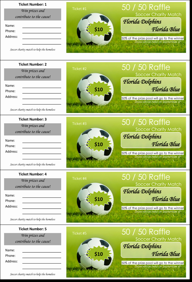 Numbered Raffle Ticket Template Word Awesome 20 Free Raffle Ticket Templates with Automate Ticket