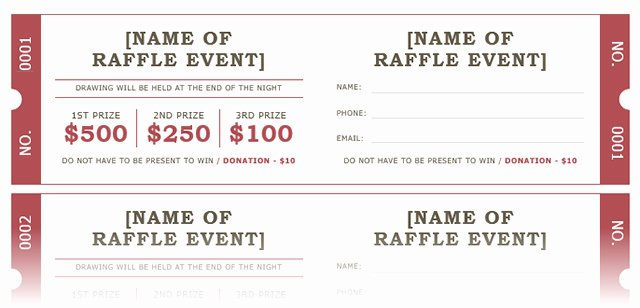 Numbered Raffle Ticket Template Word Inspirational How to Get A Free Raffle Ticket Template for Microsoft Word