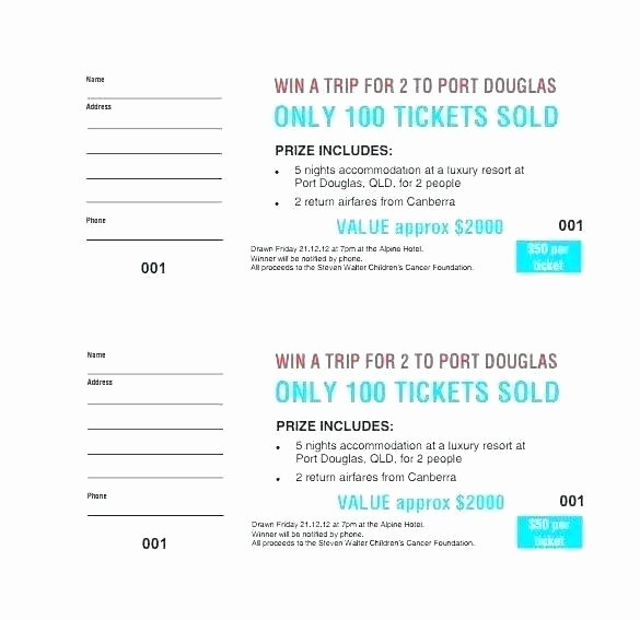 Numbered Raffle Ticket Template Word Lovely Numbering Tickets In Word