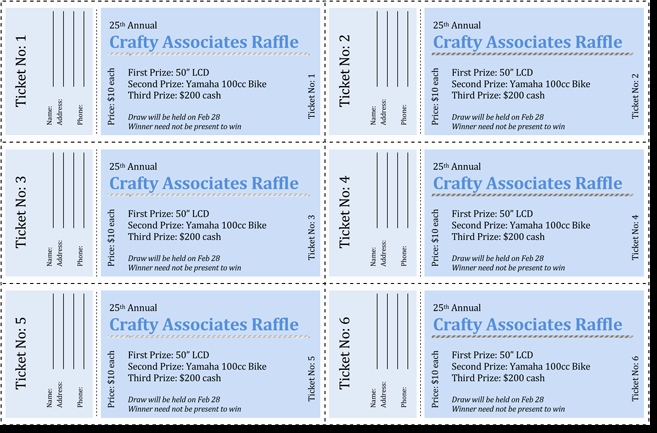 Numbered Raffle Ticket Template Word New 20 Free Raffle Ticket Templates with Automate Ticket
