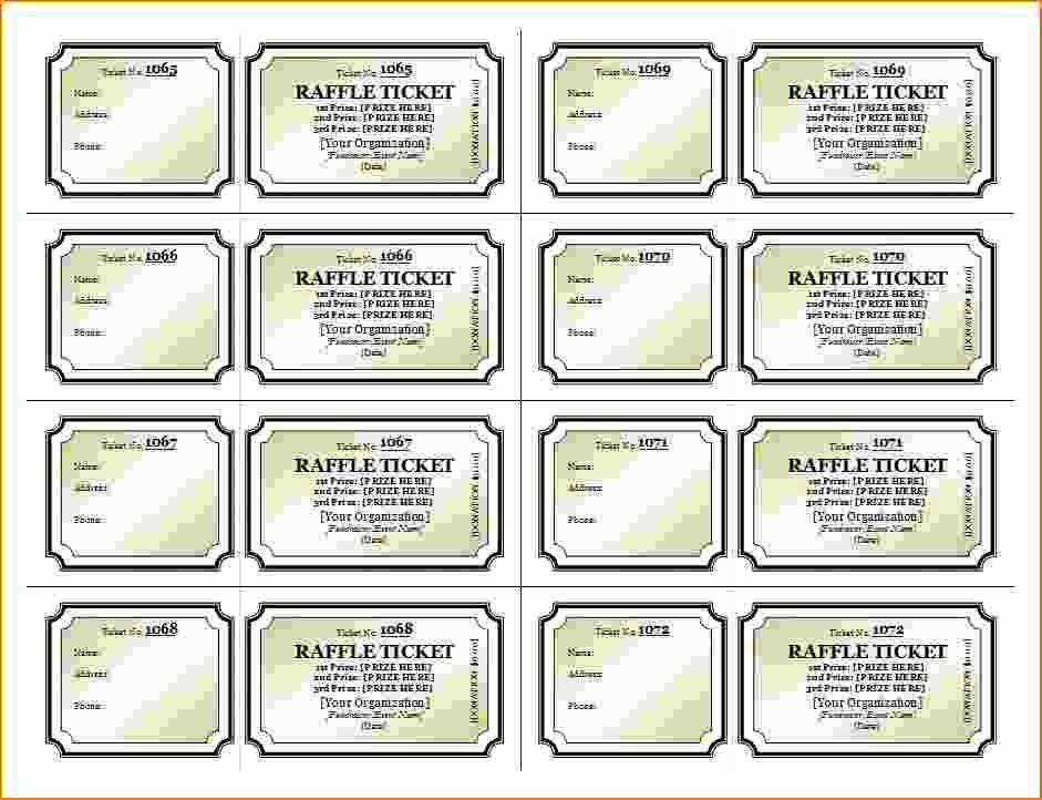 Numbered Raffle Ticket Template Word New Numbered Raffle Ticket Template Word