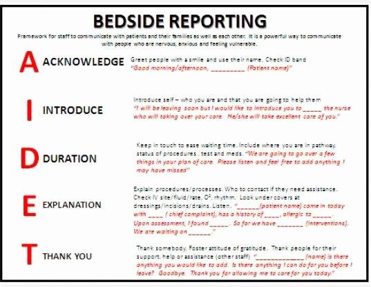 Nursing Bedside Shift Report Template Lovely Bedside Reporting Nurses
