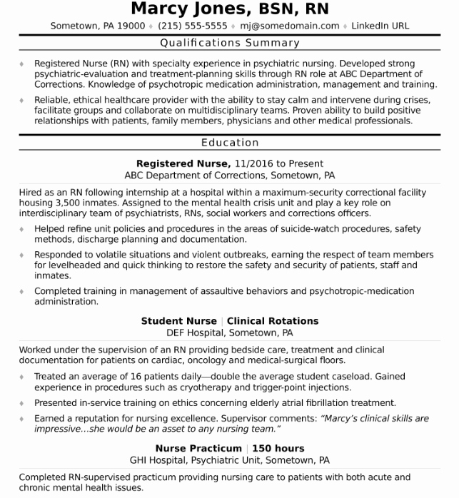 Nursing Clinical Experience Resume Fresh How to Write A Nursing Resume for A 2018 Job Market