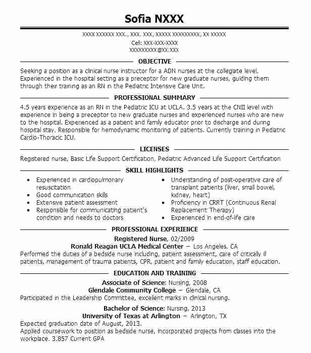 Nursing Clinical Experience Resume Fresh Student Nurse Clinical Experience Resume Example Jeans