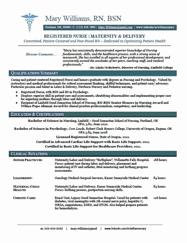 Nursing Clinical Experience Resume Inspirational Sample New Rn Resume