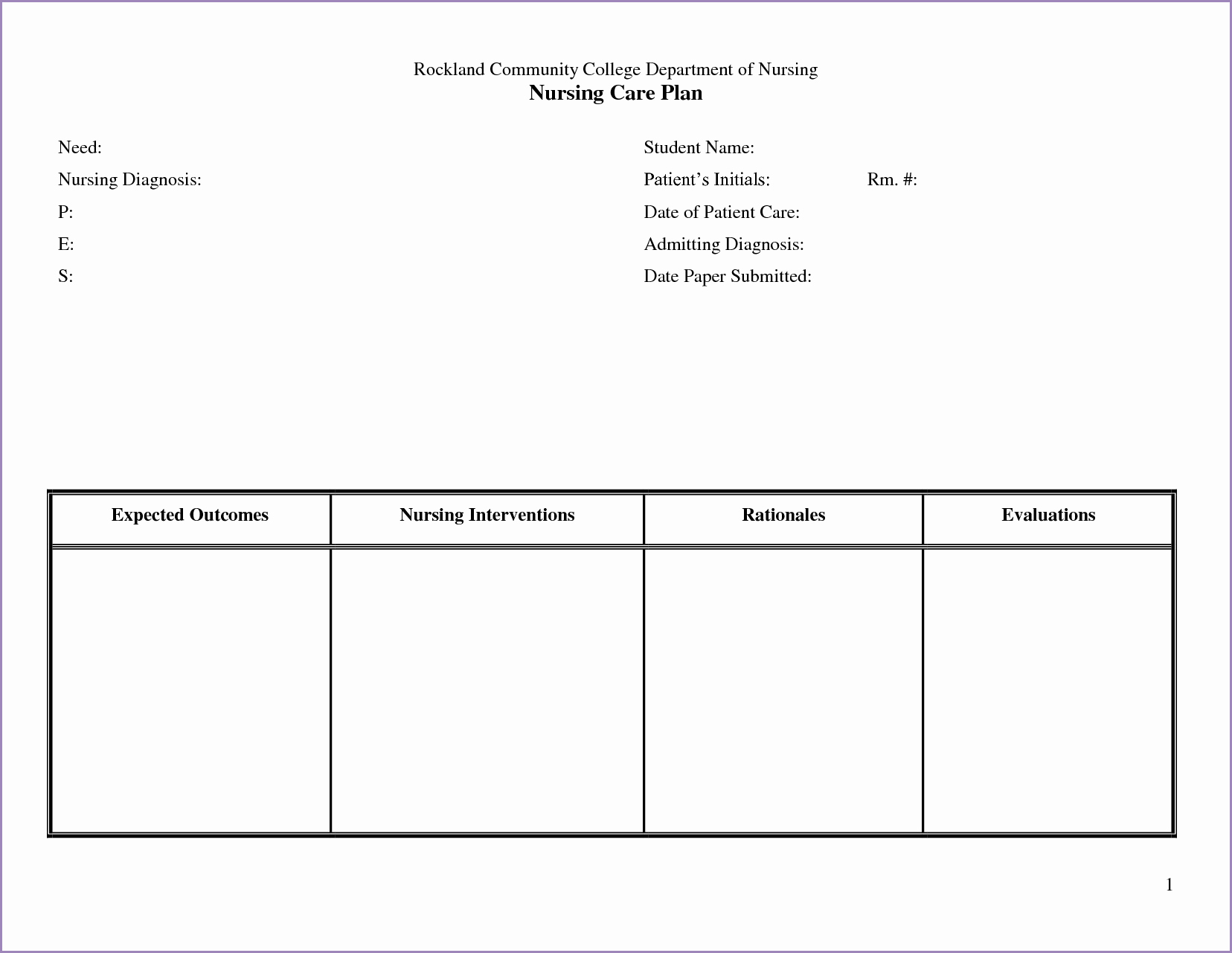 Nursing Education Plan Template Beautiful 24 Of Nursing Teaching Plan Template