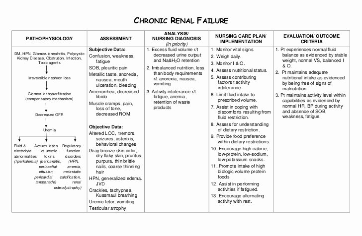 Nursing Patient Teaching Plan Sample Inspirational Nursing Care Plan Chronic Renal Failure