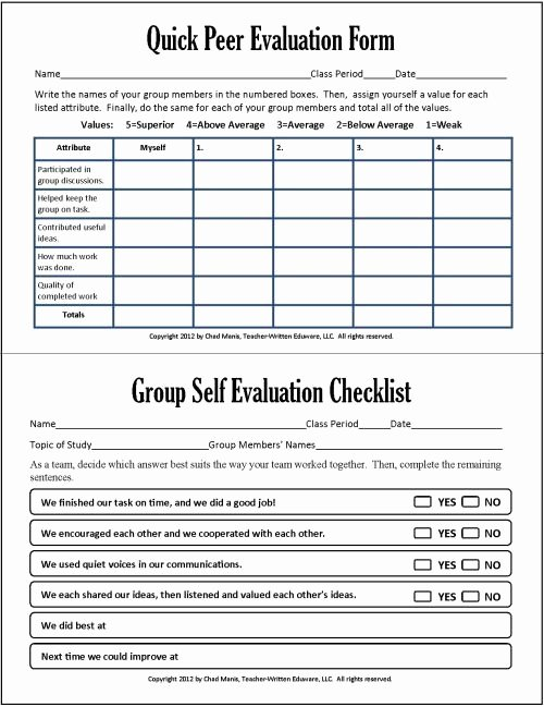 Nursing Peer Evaluation Comments Examples Fresh Group and Peer assessment In Group Work Cooperative
