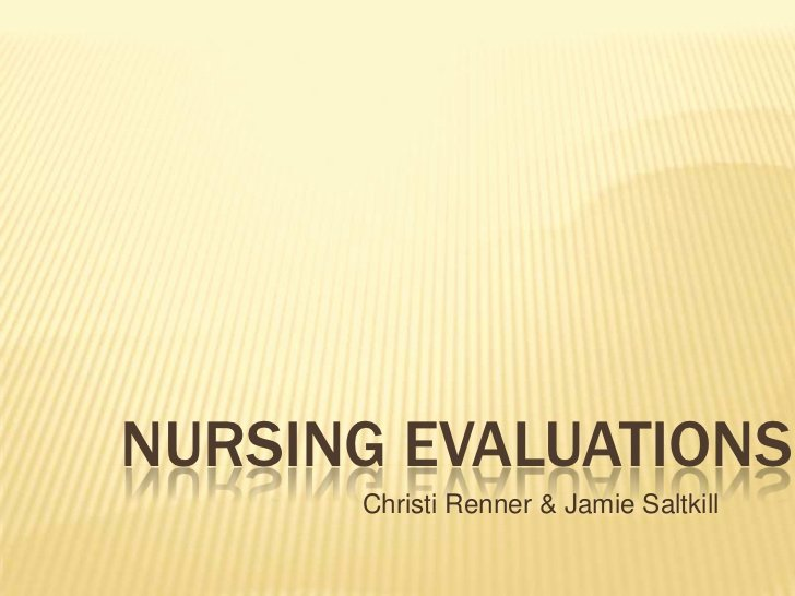 Nursing Peer Evaluation Comments Examples New Nursing Evaluations Ppt