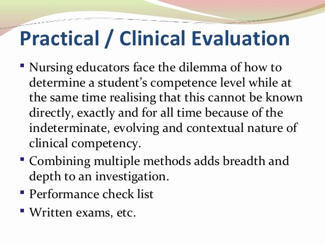 Nursing Student Evaluation Comments Examples Inspirational Summative Evaluation 06 03 2014