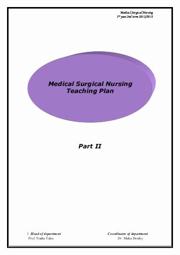 Nursing Teaching Plan Lovely Adult Medical Surgical Nursing ati Testing