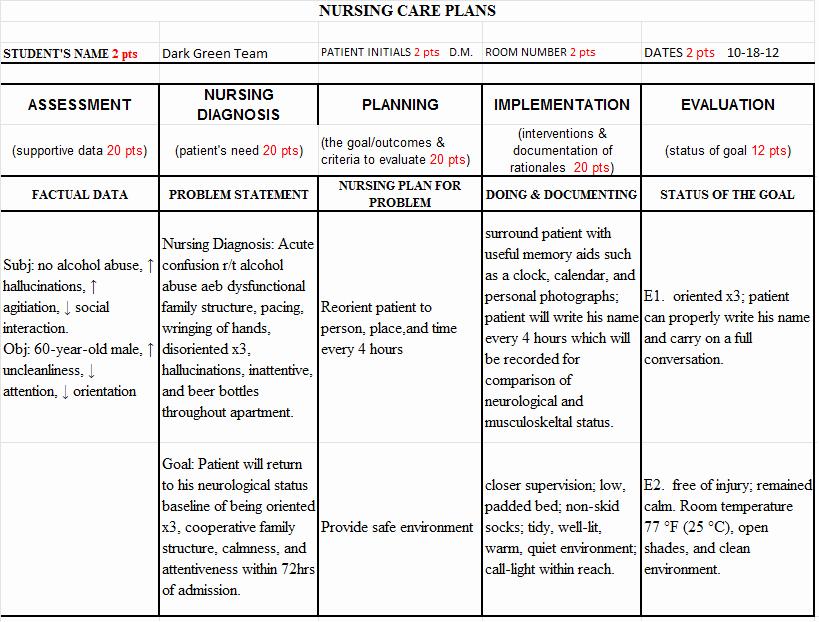Nursing Teaching Plan Template Lovely Sample Nursing Teaching Plan for Nursing Student Sample