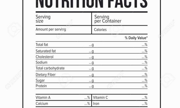 Nutrition Facts Label Template Beautiful Nutritional Facts Generator – Blog Dandk
