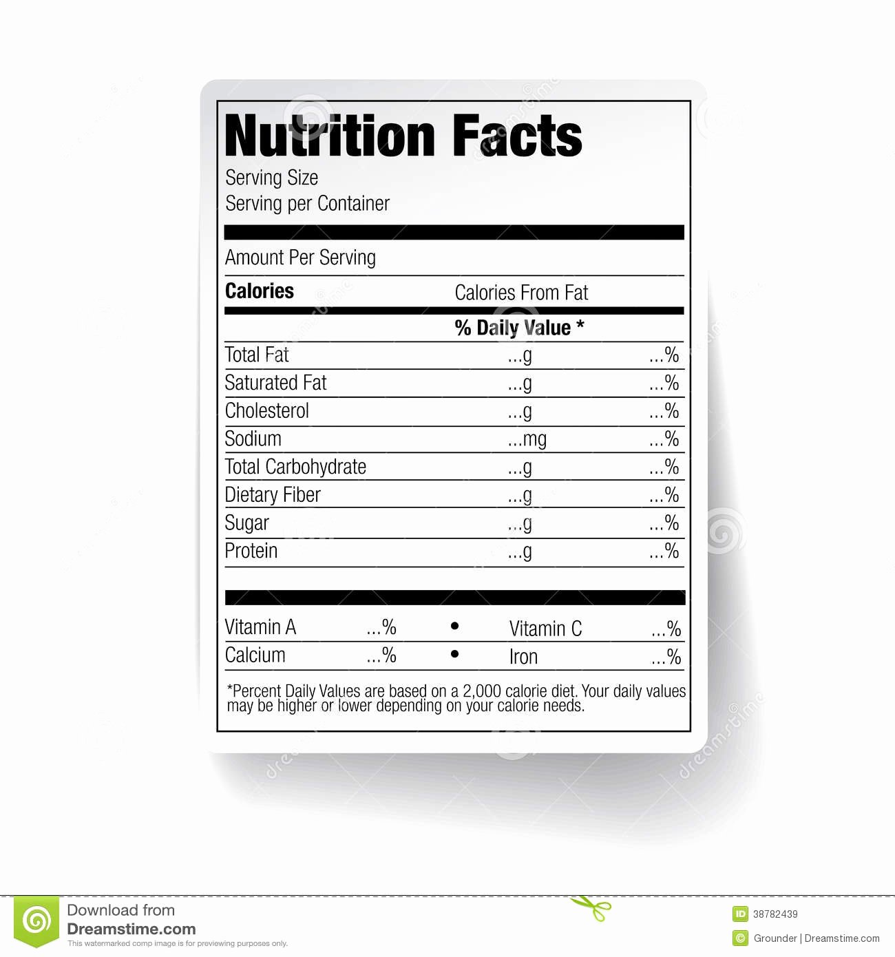 Nutrition Facts Label Template Fresh Label Template Id28