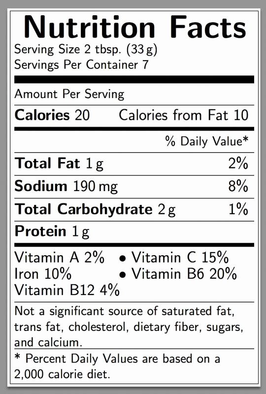 Nutrition Facts Label Template Inspirational Nutrition Label Template Excel