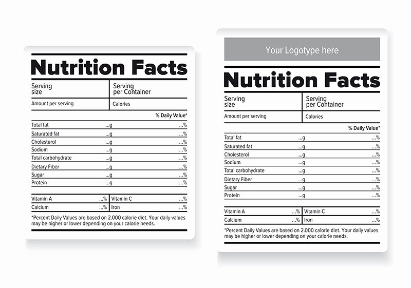 Nutrition Facts Label Template New Nutrition Facts Labels Illustrations On Creative Market