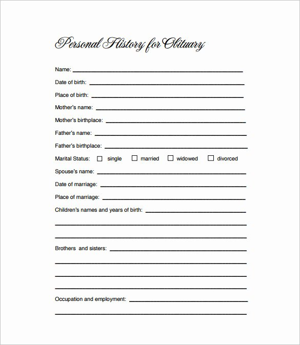 Obituary Templates Free Downloads Best Of Obituary Template 21 Free Blank Obituary Templates Word