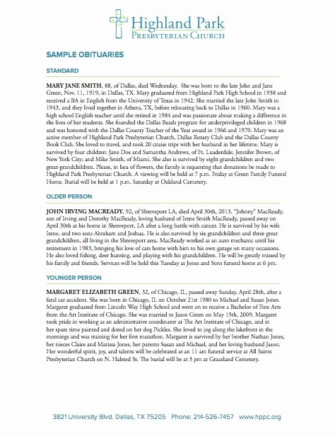 Obituary Templates Free Downloads Lovely 25 Free Obituary Templates and Samples Free Template