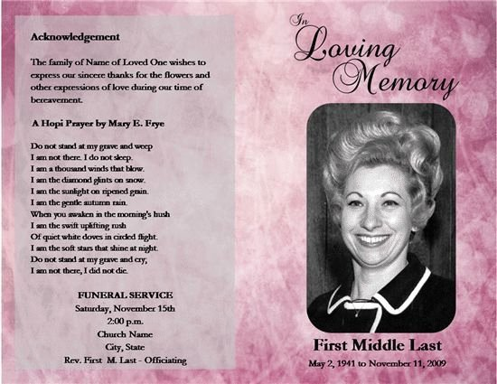 Obituary Templates Free Downloads Lovely 5 Obituary Template and Samples Free Download