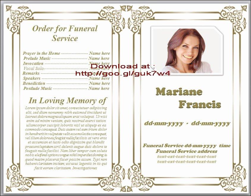 Obituary Templates Free Downloads New Obituary Templates