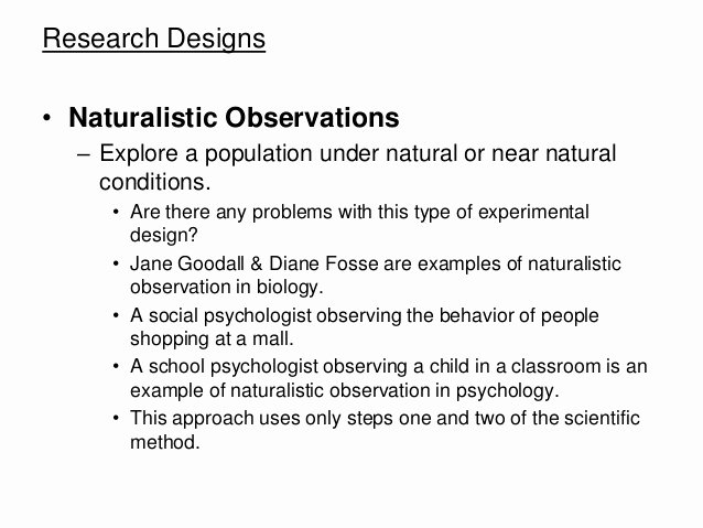 Observational Research Paper Examples Inspirational Naturalistic Observation Paper Driverlayer Search Engine