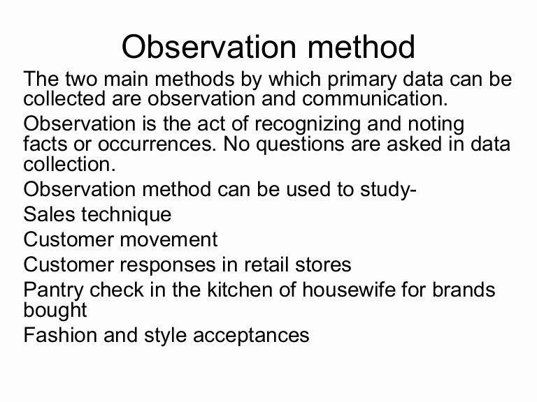 Observational Research Paper Examples Lovely Observation Method