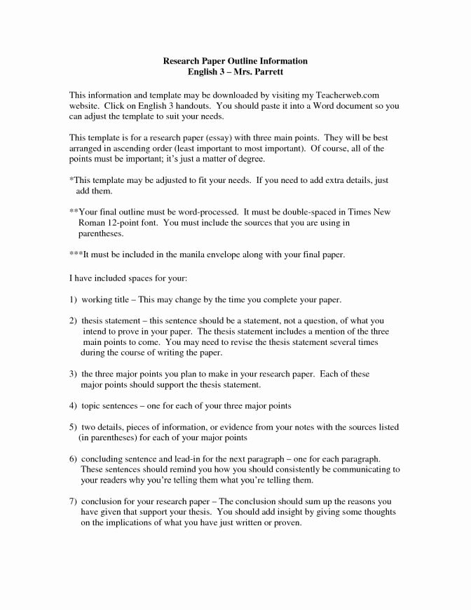Observational Research Paper Examples New Essays with thesis Statements