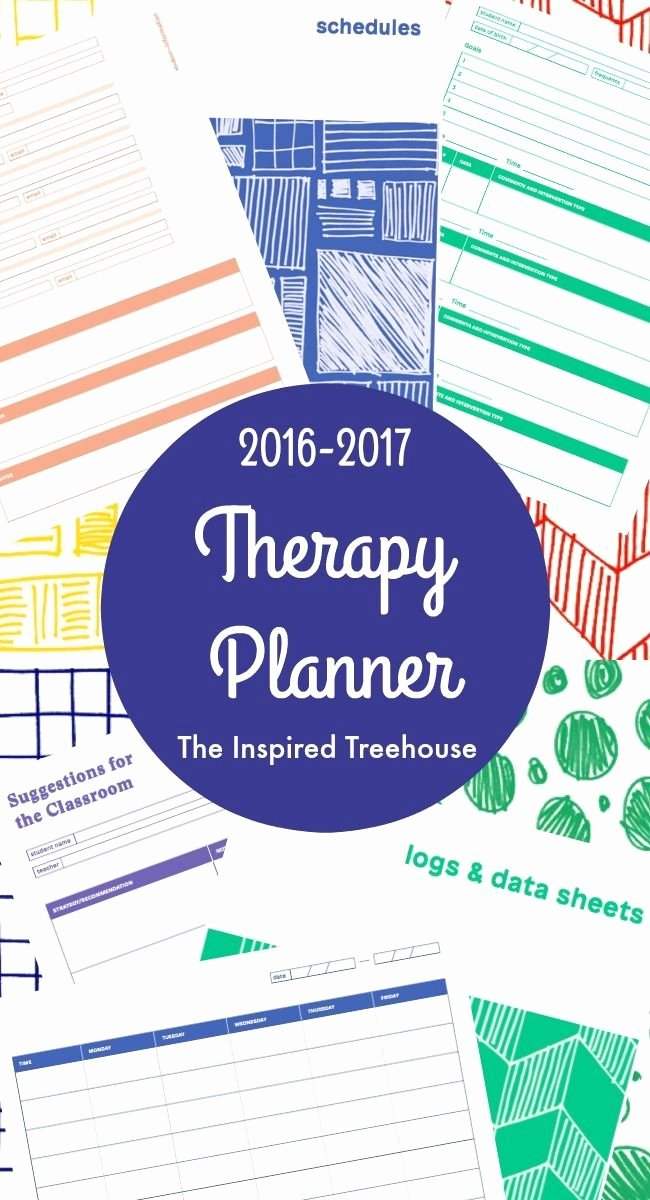 Occupational therapy Treatment Plan Template Elegant Printable Planner for therapists