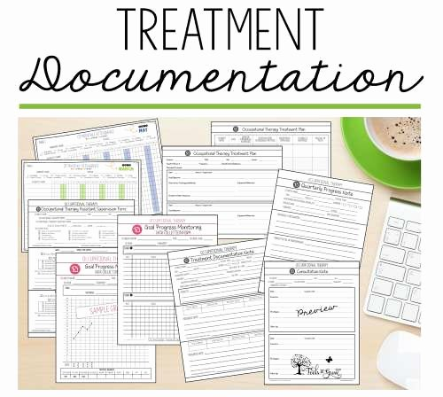 Occupational therapy Treatment Plan Template Elegant Treatment Documentation Caseload Management