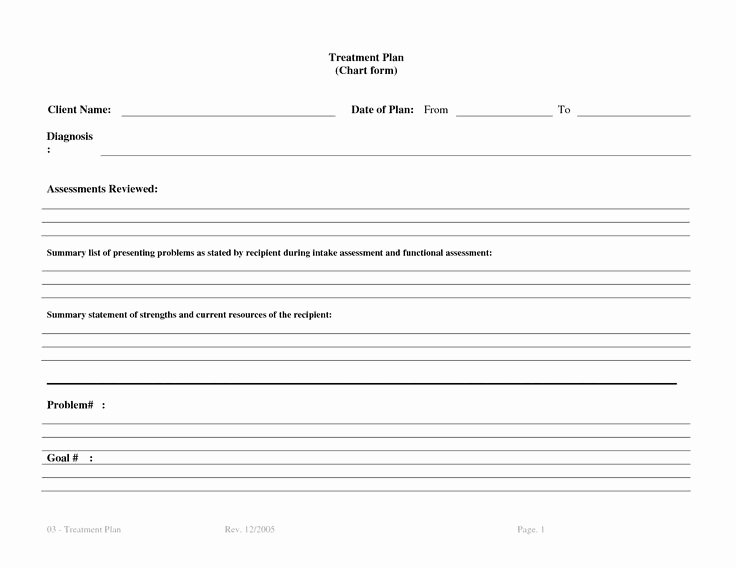 Occupational therapy Treatment Plan Template New Treatment Plan Template Bm4ucntx therapy
