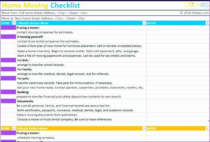 Office Move Checklist Excel Luxury Fice Move Checklist Template Excel Neorx Beautiful 5