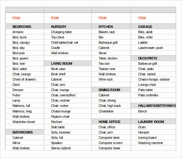 Office Move Project Plan Template Beautiful 13 Moving Inventory Templates – Free Sample Example