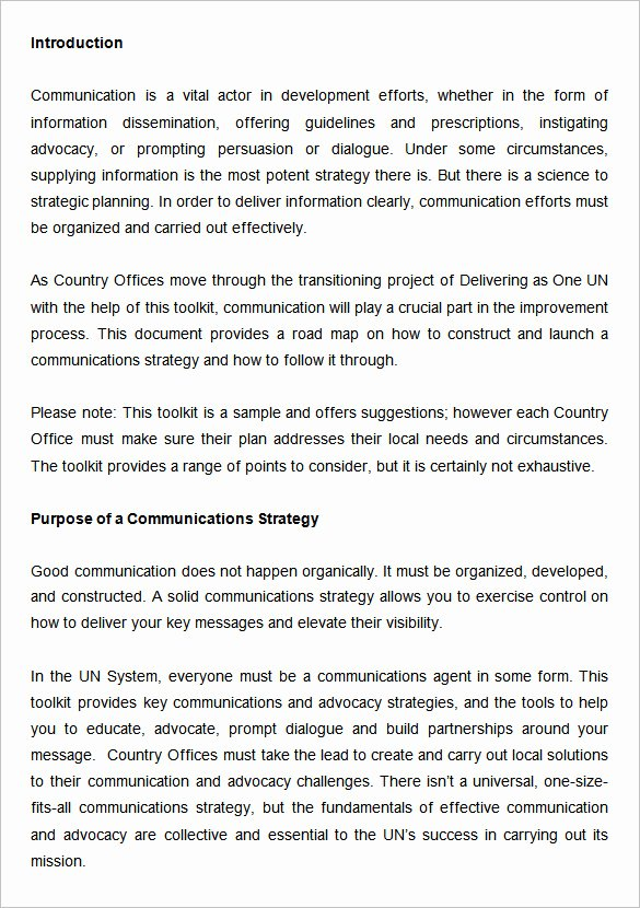 Office Move Project Plan Template Luxury 10 Munication Strategy Templates Free Word Pdf