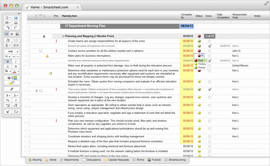 Office Move Project Plan Template Unique Smartsheet How It S Used Easy Cloud solutions