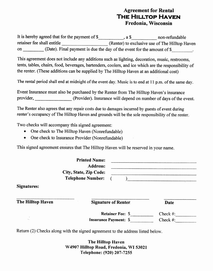 One Page Lease Agreement Beautiful 1 Page Rental Agreement