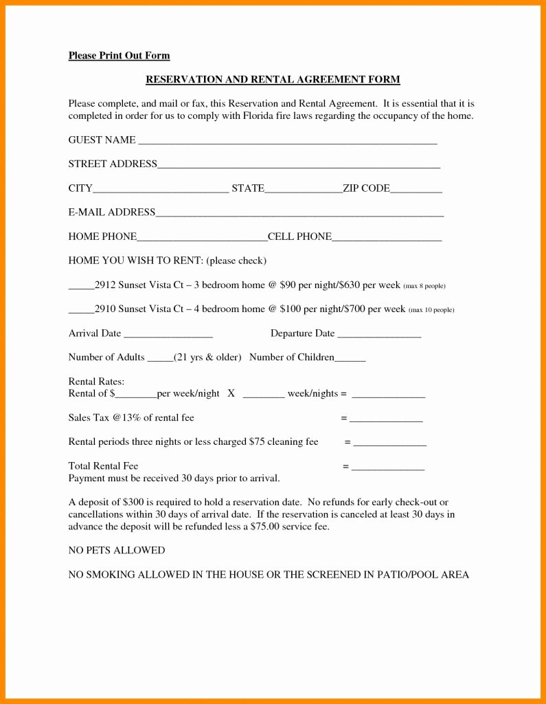 One Page Lease Agreement Beautiful Rental Agreement format