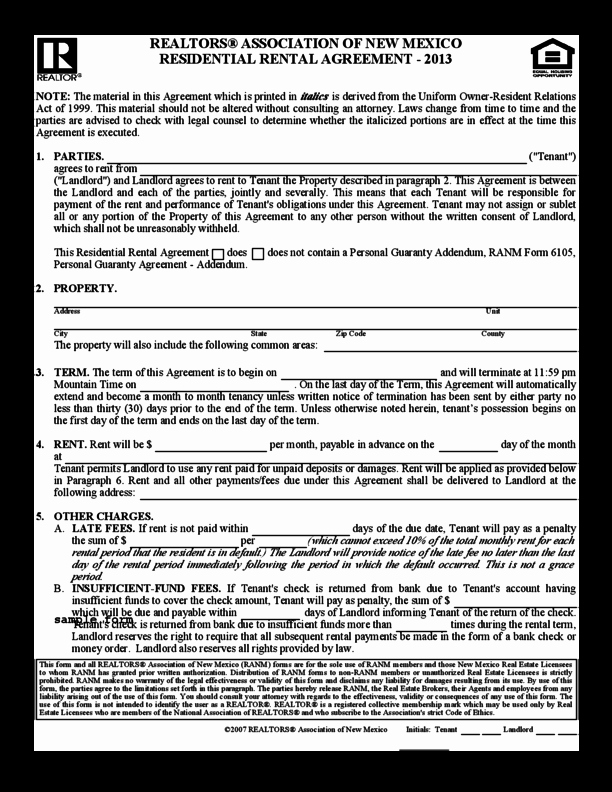 One Page Lease Agreement Fresh E Page Lease Agreement