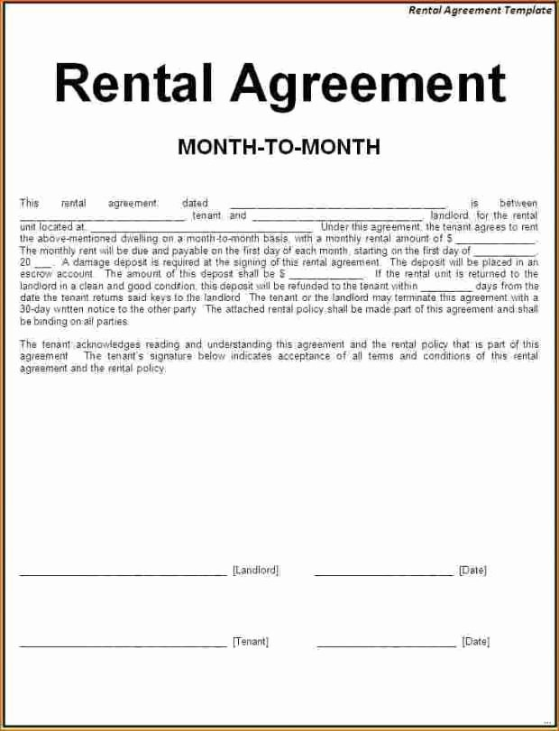 One Page Lease Agreement Fresh Simple Rental Agreement Pdf Excellent Simple E Page