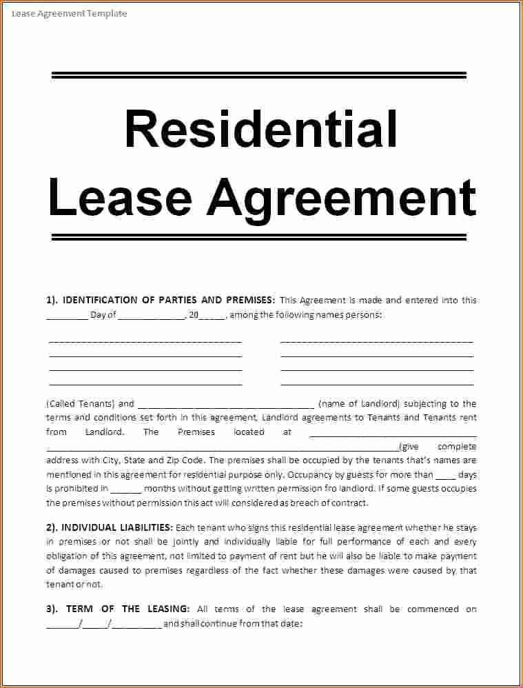 One Page Lease Agreement Inspirational E Page Lease Agreement Basic 5 Free Rental Agreement