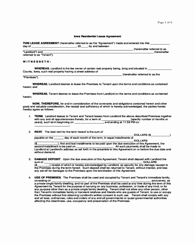 One Page Lease Agreement Luxury 2018 Residential Lease Agreement Fillable Printable Pdf
