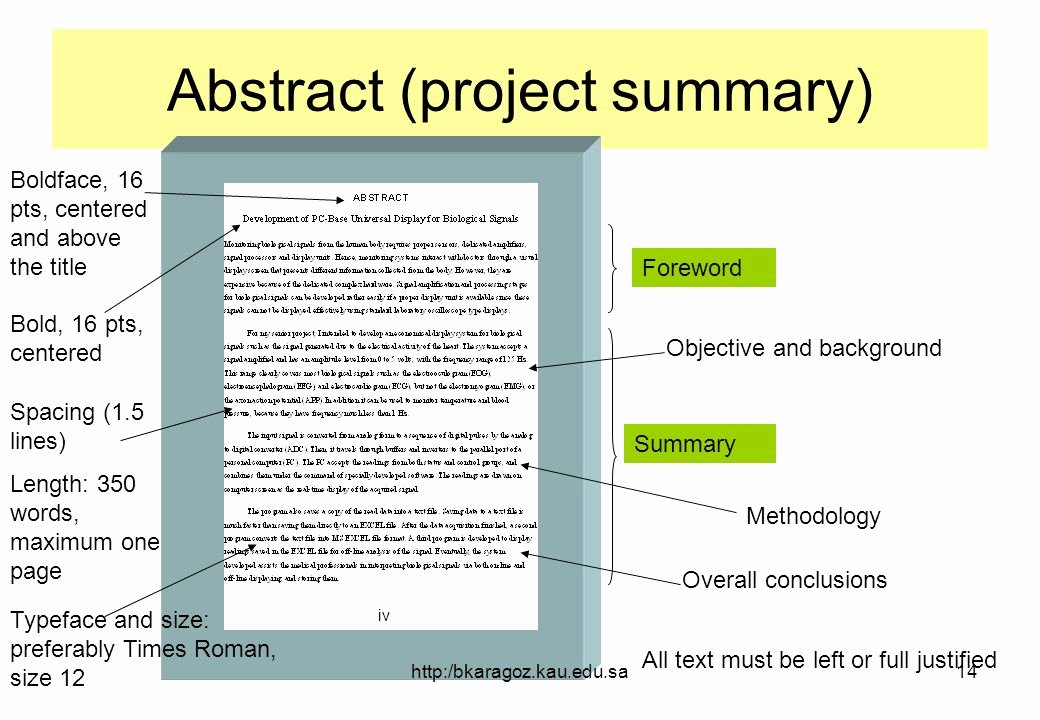 One Page Project Summary New Writing the Final Report for Ee 499 – Senior Projects
