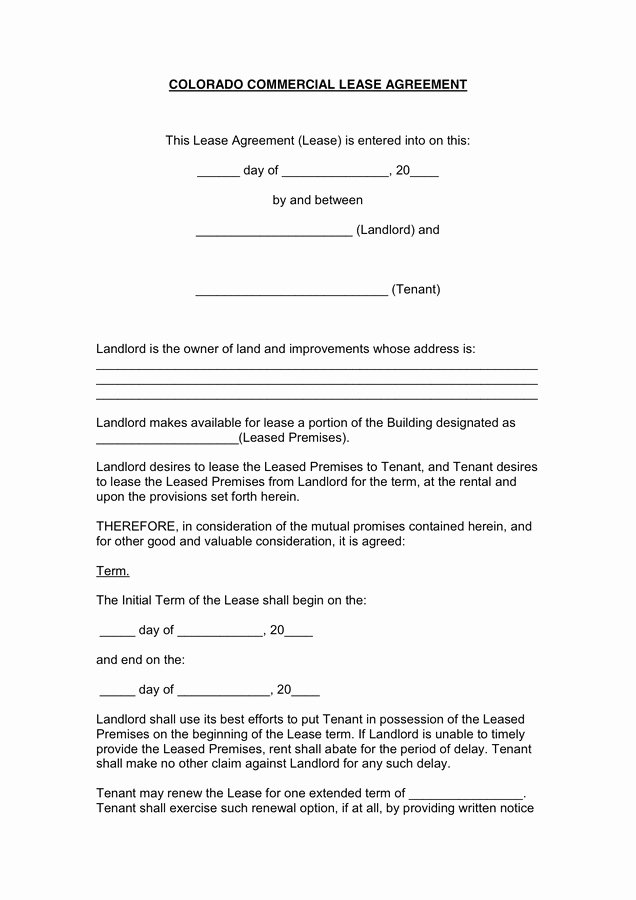 One Page Rental Agreement Awesome 1 Page Rental Agreement form Last Mercial Lease Agreement