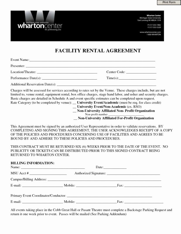 One Page Rental Agreement Beautiful E Page Lease Agreement